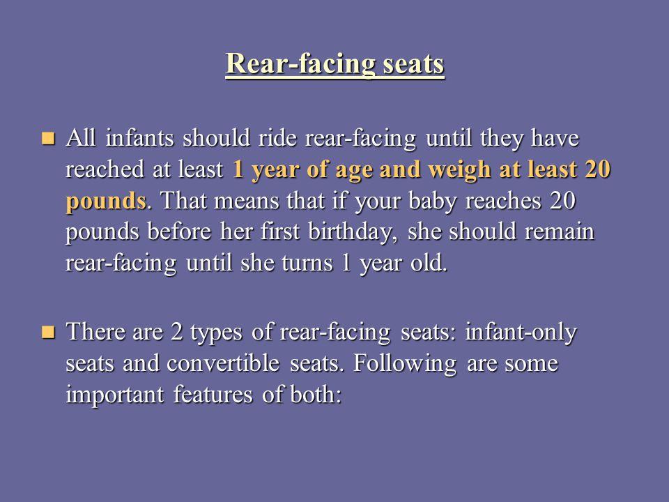 Rear-facing seats