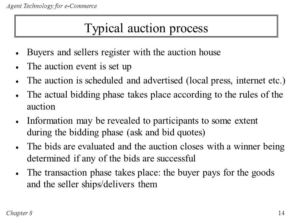 Typical auction process