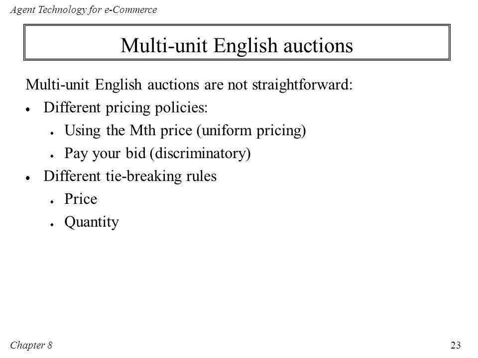 Multi-unit English auctions
