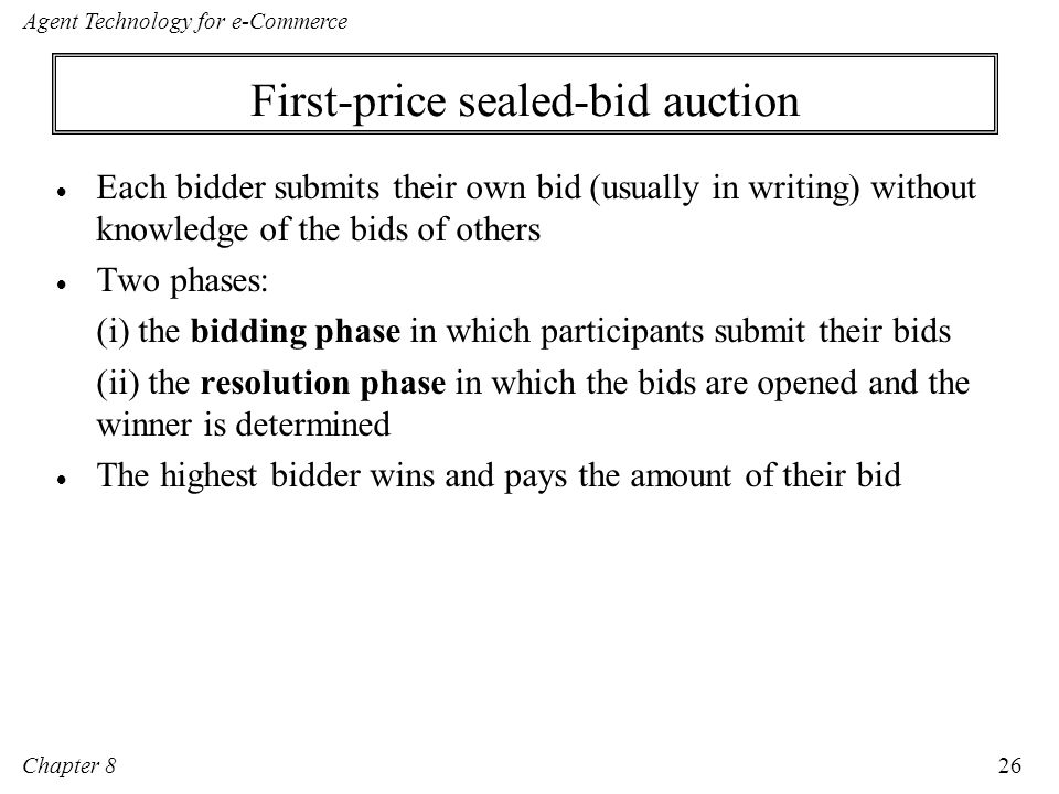 First-price sealed-bid auction
