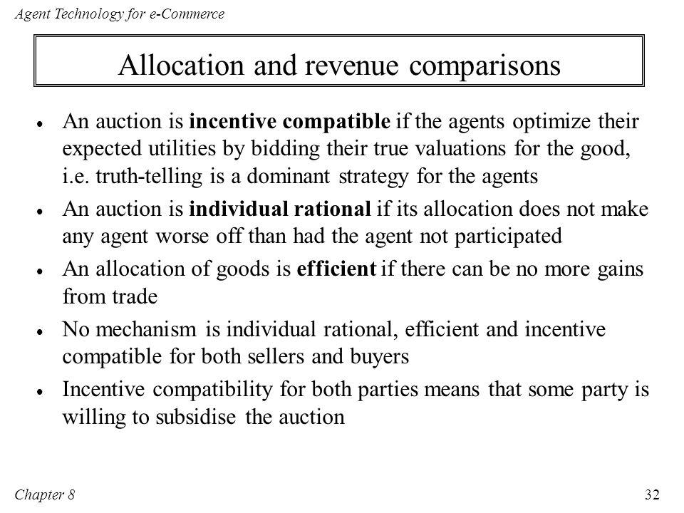 Allocation and revenue comparisons