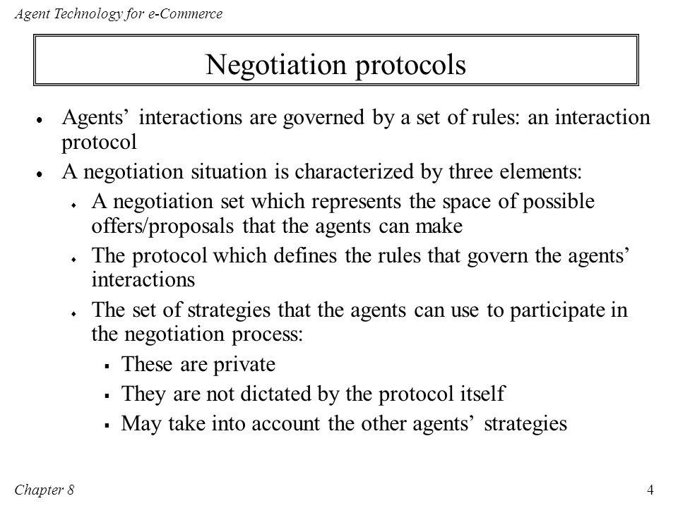 Negotiation protocols