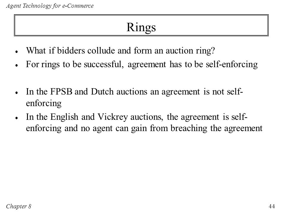 Rings What if bidders collude and form an auction ring