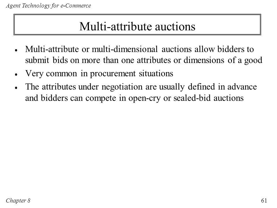 Multi-attribute auctions