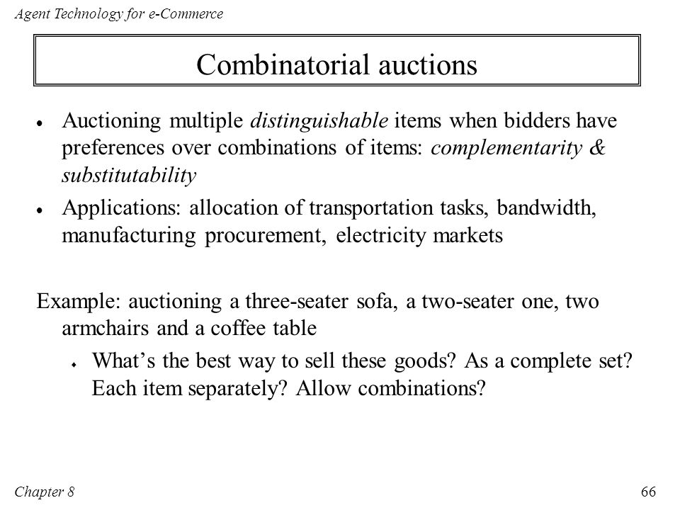 Combinatorial auctions