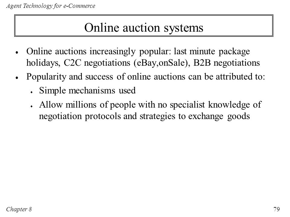 Online auction systems