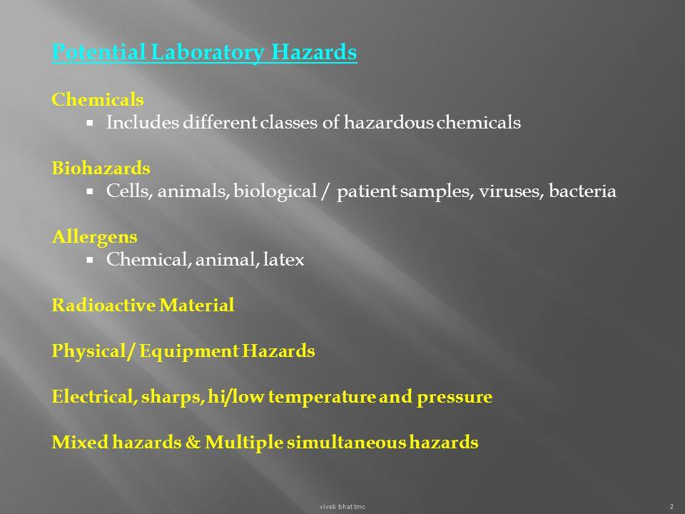 Potential Laboratory Hazards