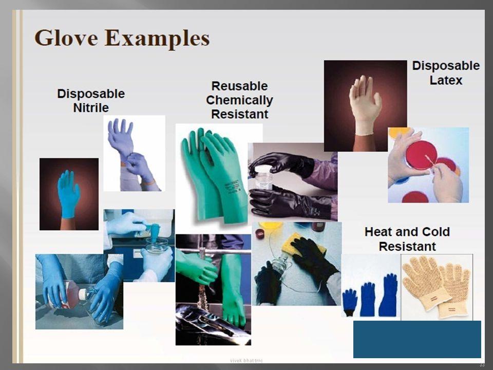 Polyurethane , neoprine, co-polymer gloves