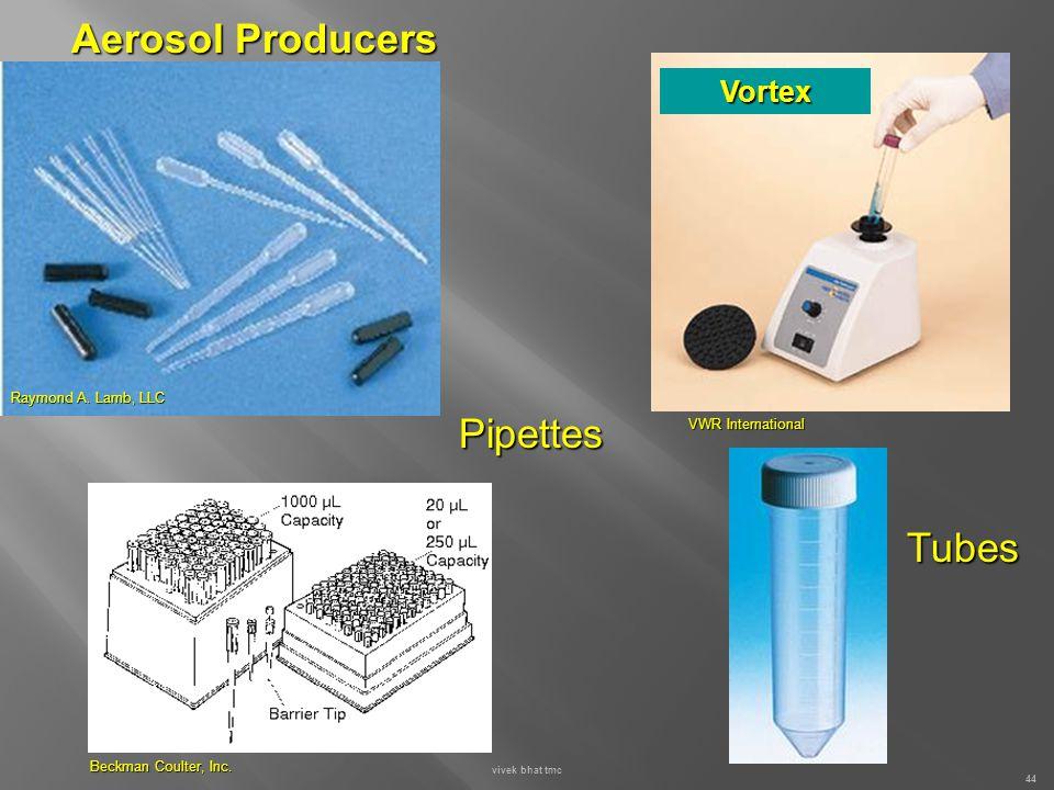 Aerosol Producers Pipettes Tubes Vortex Raymond A. Lamb, LLC