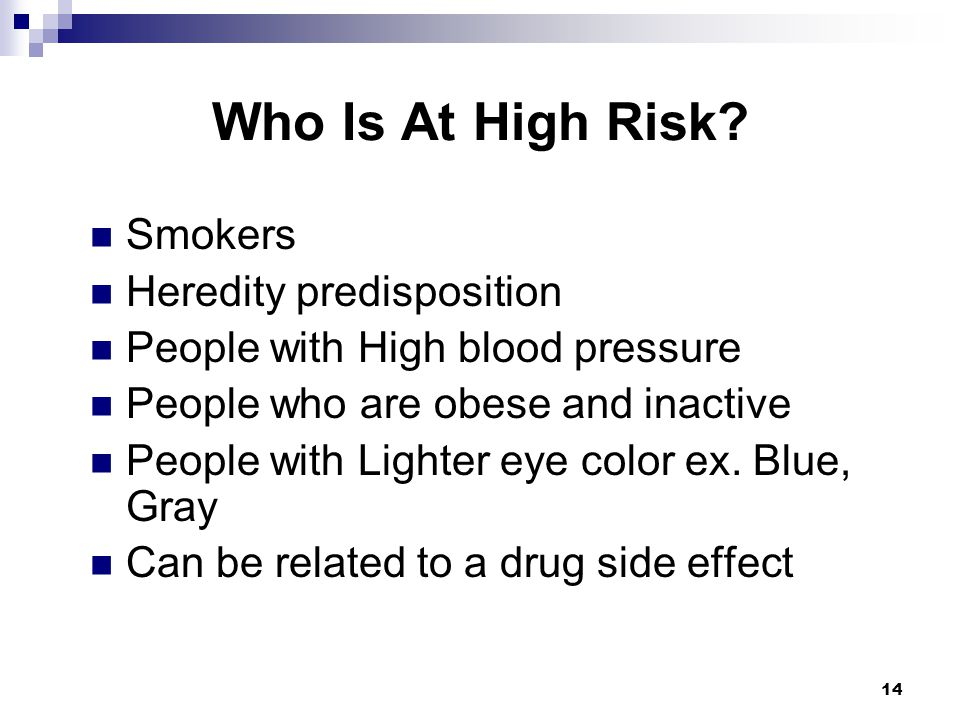 Who Is At High Risk Smokers Heredity predisposition