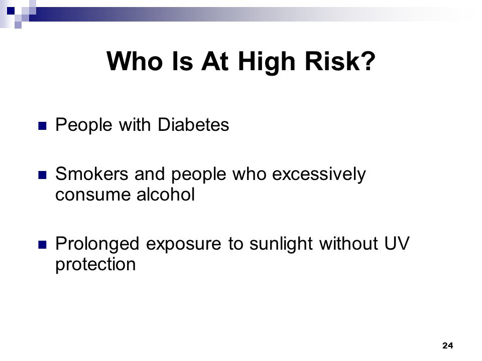 Who Is At High Risk People with Diabetes