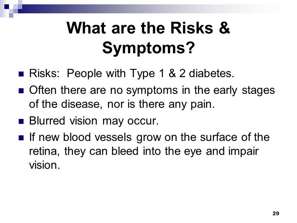 What are the Risks & Symptoms