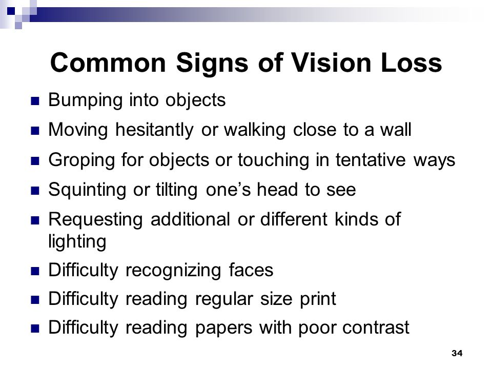 Common Signs of Vision Loss