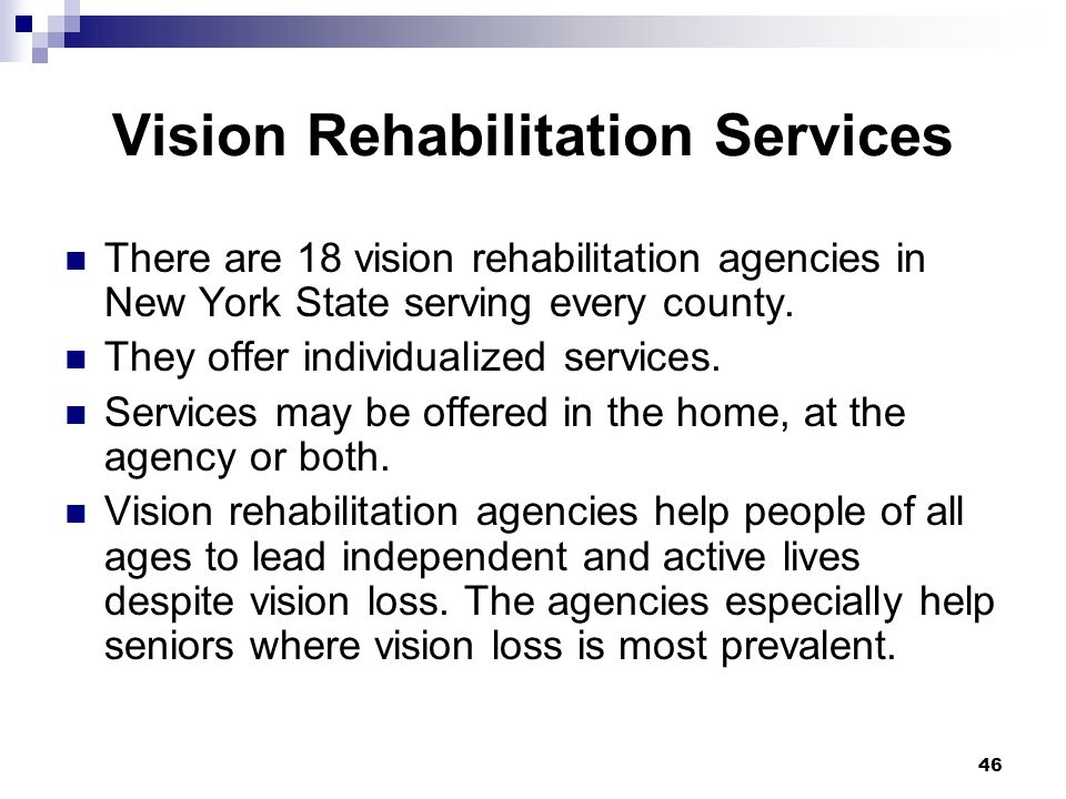 Vision Rehabilitation Services