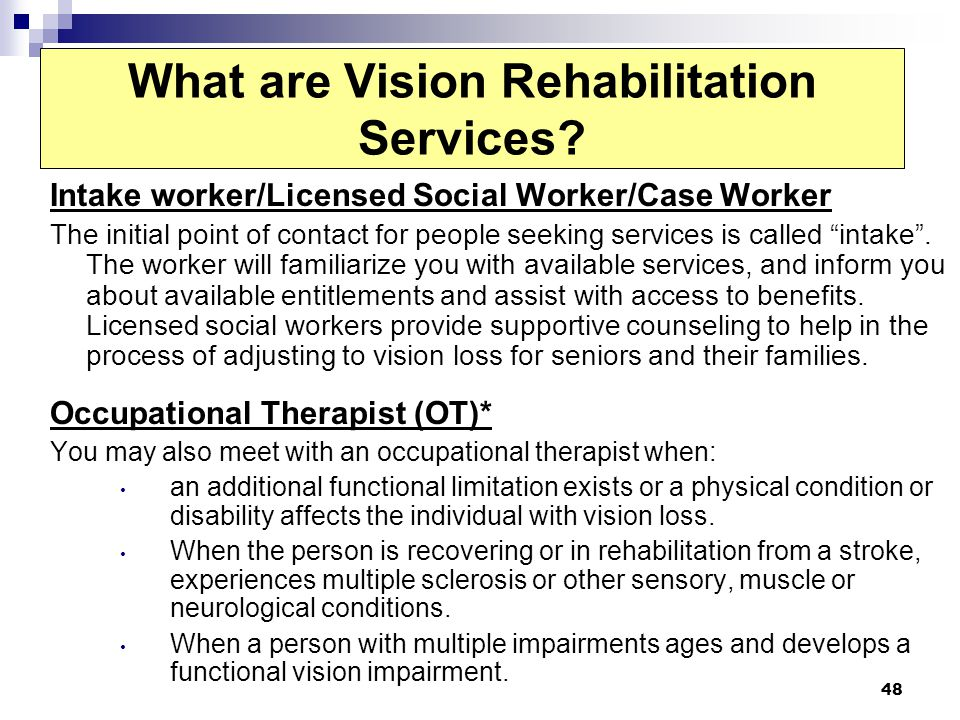 What are Vision Rehabilitation Services