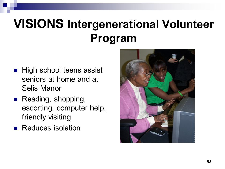 VISIONS Intergenerational Volunteer Program