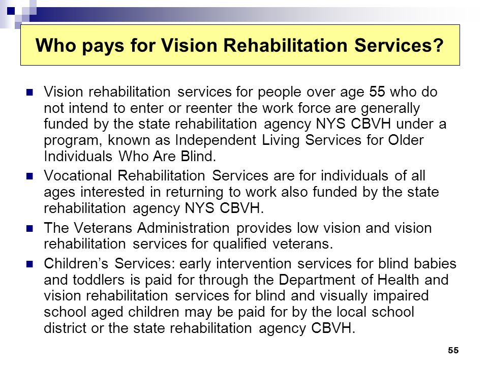 Who pays for Vision Rehabilitation Services