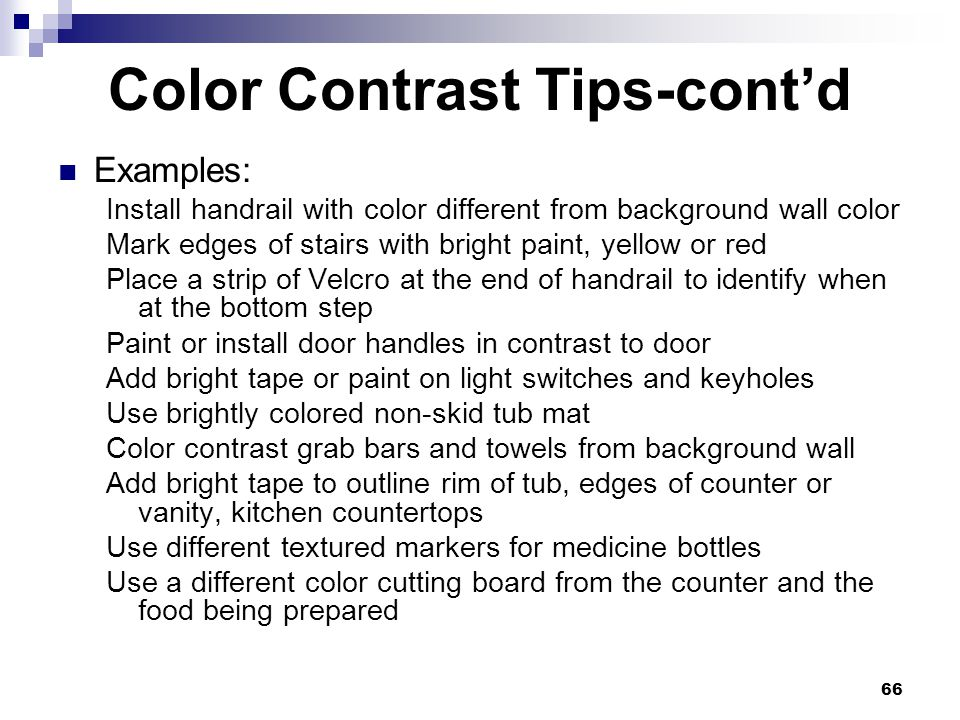 Color Contrast Tips-cont'd