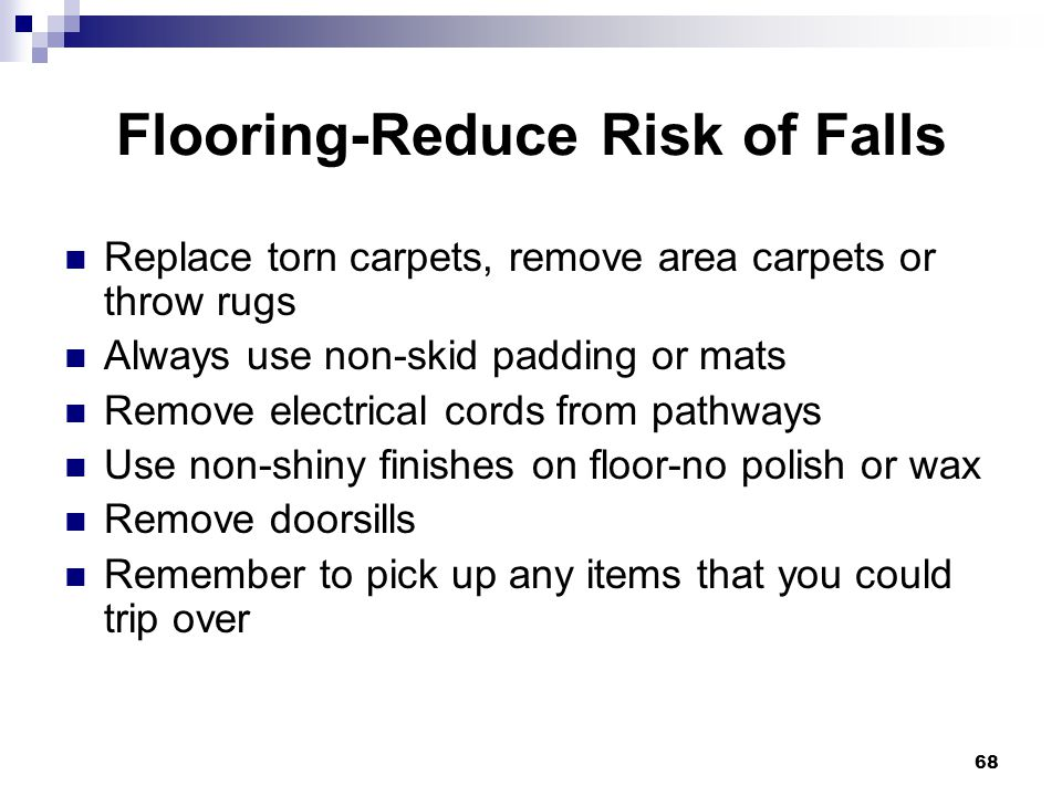Flooring-Reduce Risk of Falls
