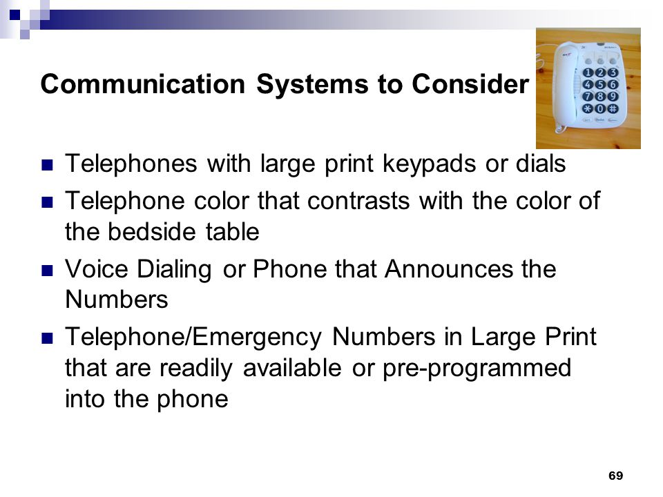 Communication Systems to Consider