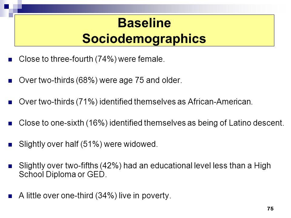 Baseline Sociodemographics