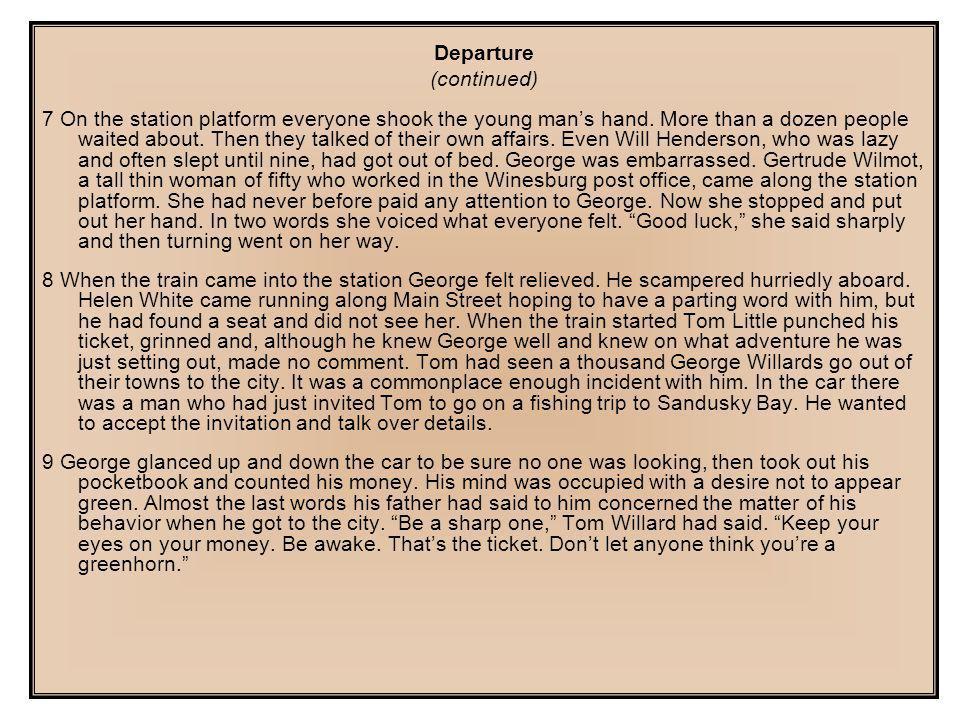 Departure (continued)