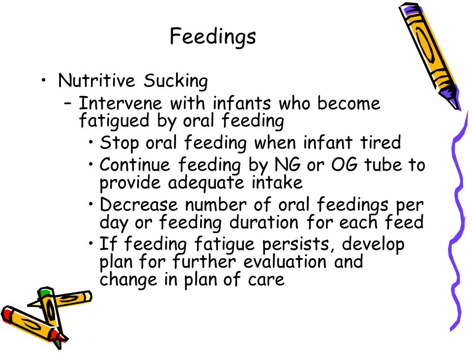 Feedings Nutritive Sucking