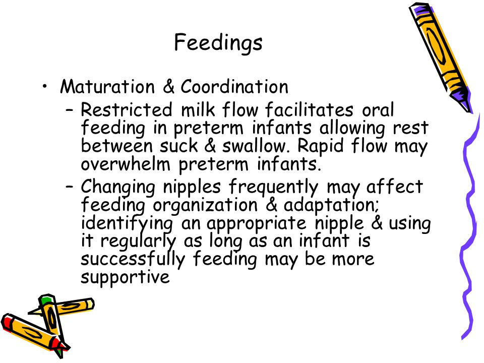 Feedings Maturation & Coordination