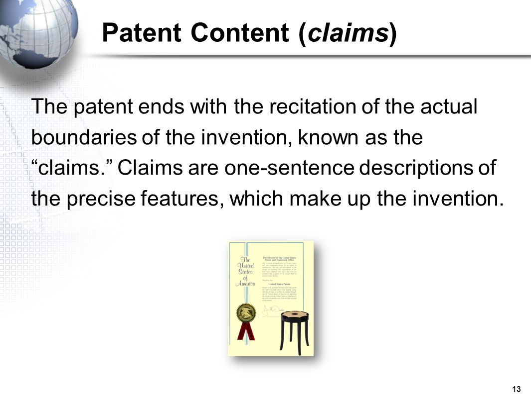 Patent Content (claims)