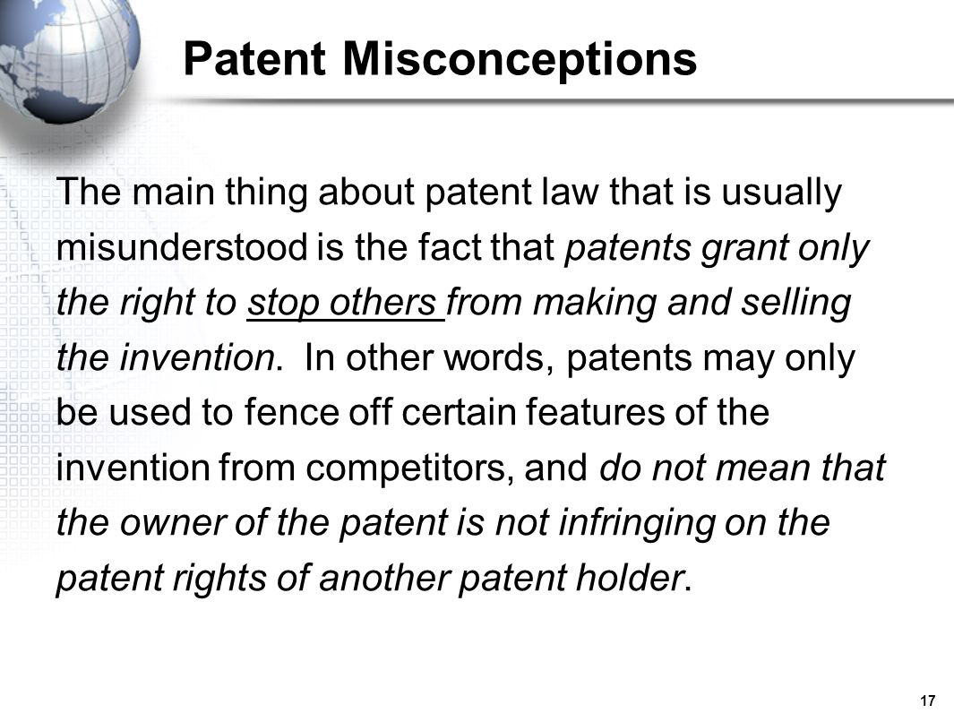 Patent Misconceptions