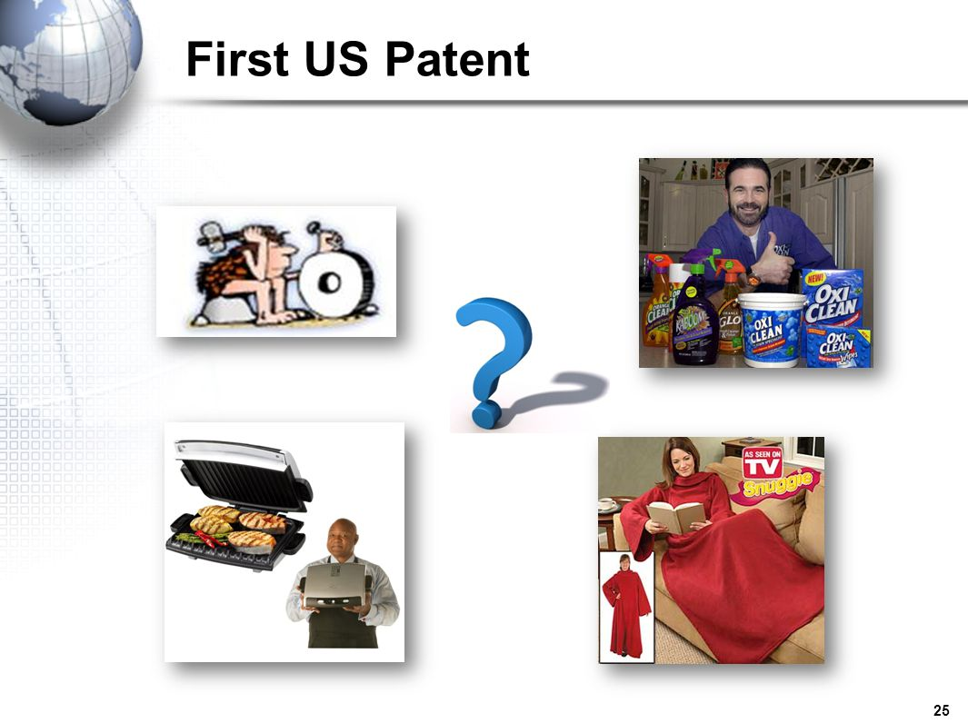First US Patent