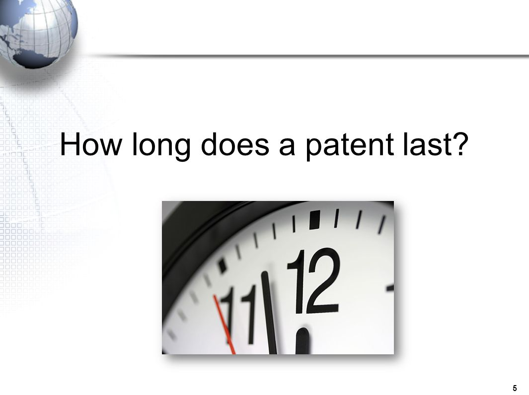 How long does a patent last