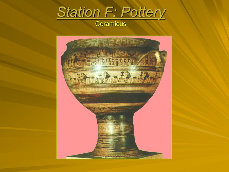 Station F: Pottery Ceramicus