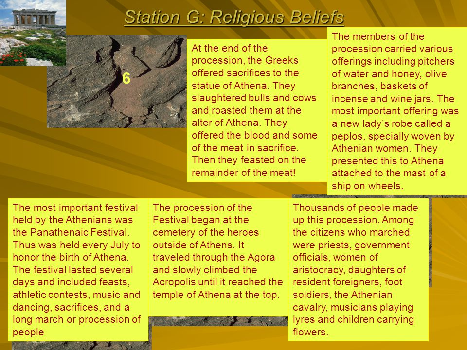 Station G: Religious Beliefs