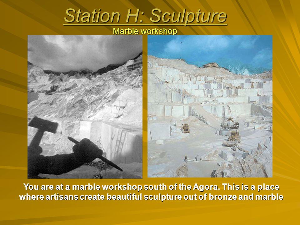 Station H: Sculpture Marble workshop