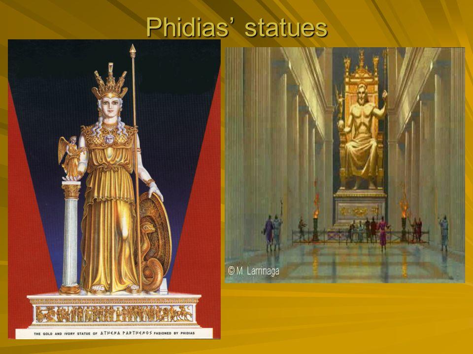 Phidias' statues