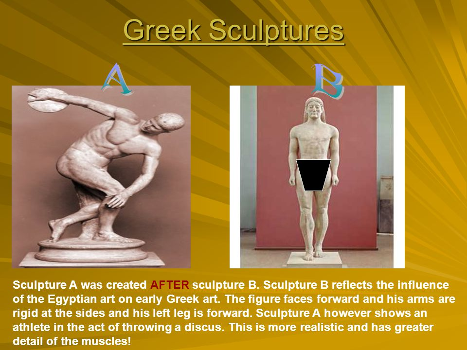 Greek Sculptures A. B.