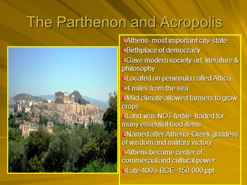 The Parthenon and Acropolis
