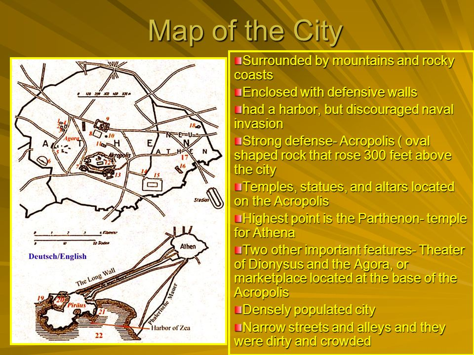 Map of the City Surrounded by mountains and rocky coasts