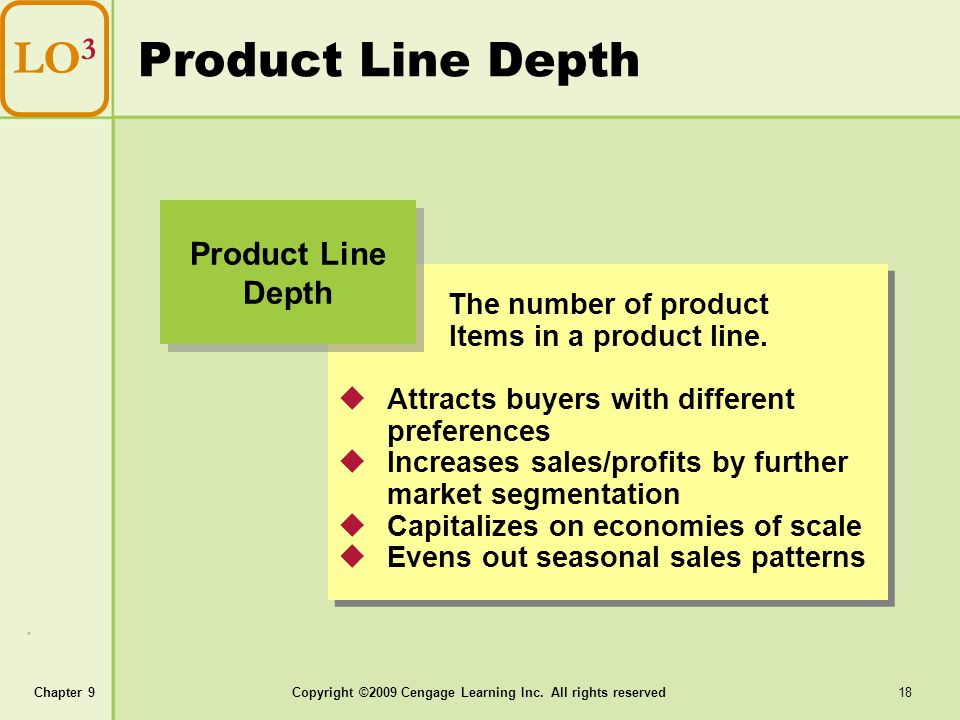 Product Line Depth LO3 Product Line Depth The number of product
