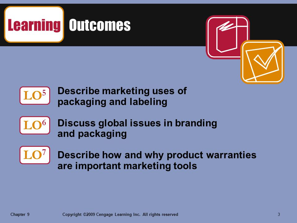 Learning Outcomes LO5 LO6 LO7 Describe marketing uses of