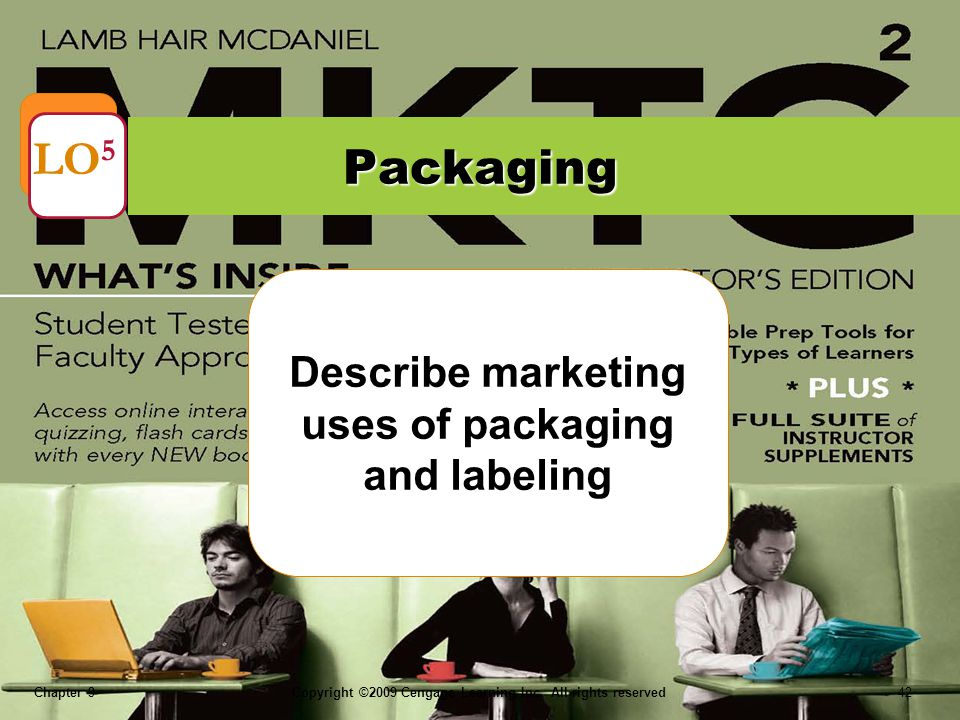 Describe marketing uses of packaging and labeling