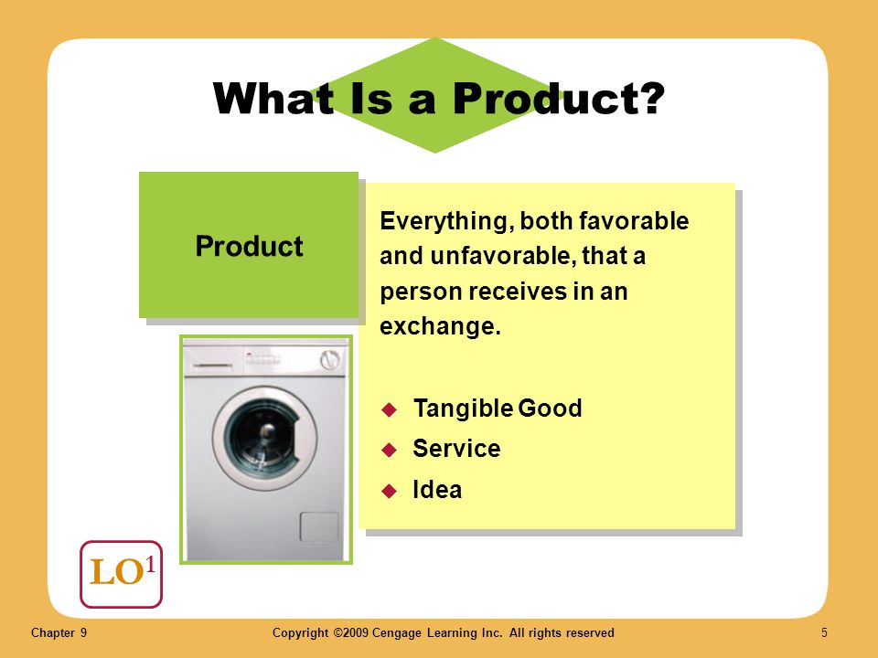 What Is a Product LO1 Product
