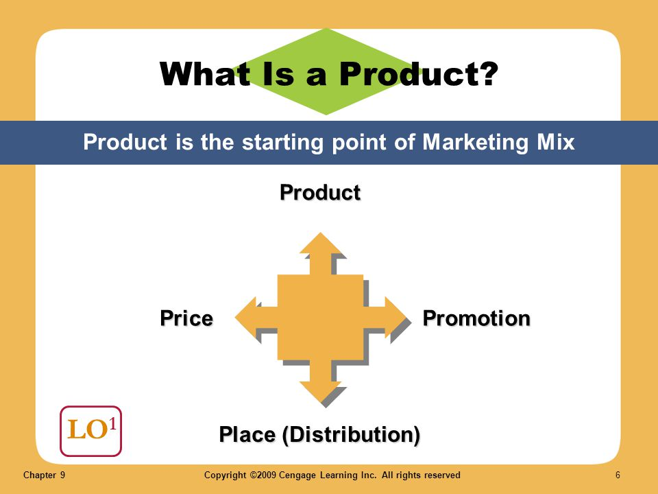 Product is the starting point of Marketing Mix