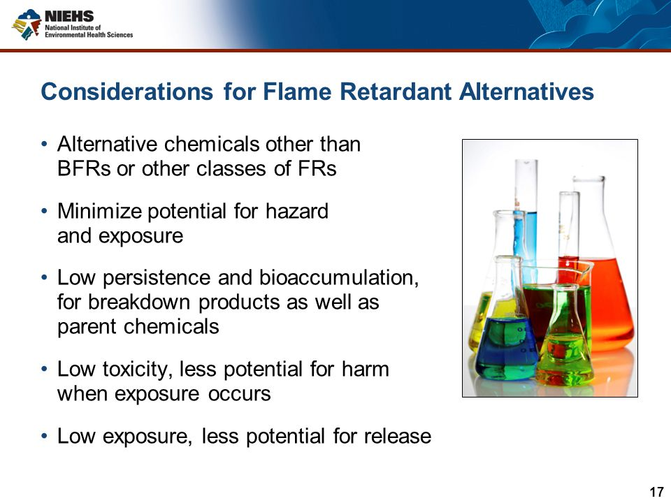Considerations for Flame Retardant Alternatives