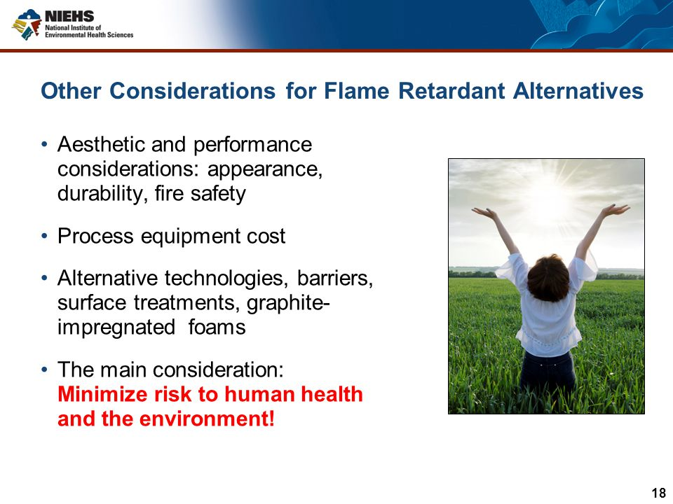 Other Considerations for Flame Retardant Alternatives