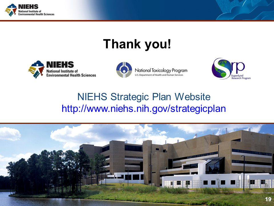 NIEHS Strategic Plan Website