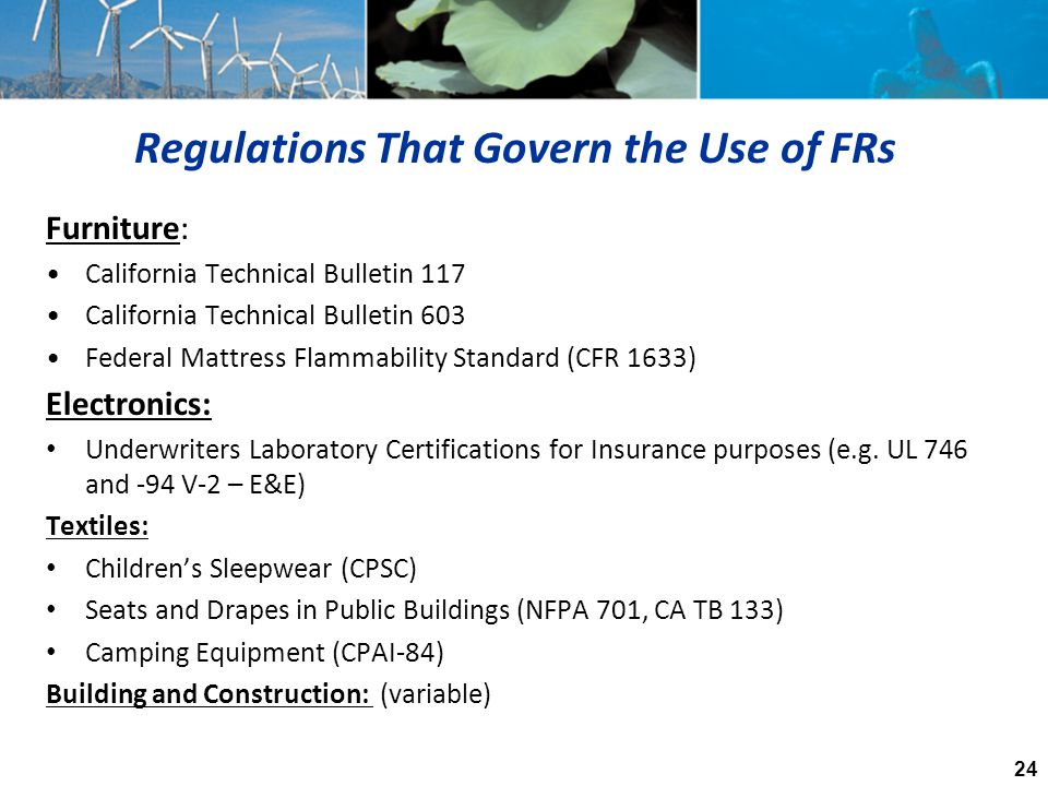 Regulations That Govern the Use of FRs