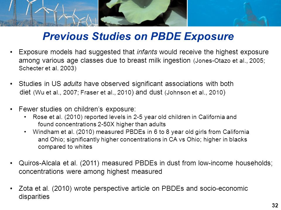 Previous Studies on PBDE Exposure