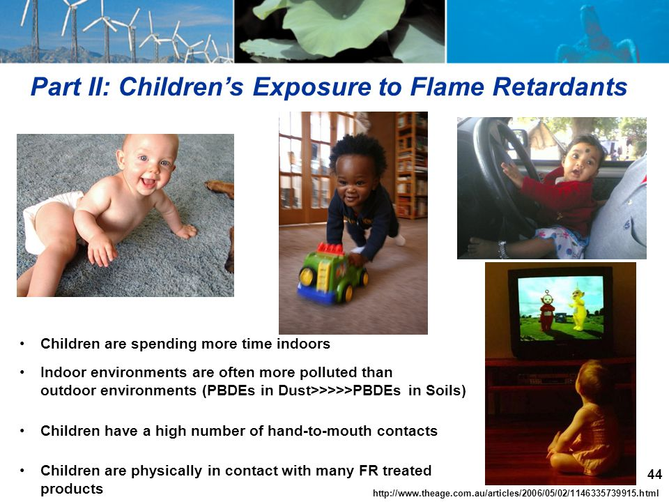 Part II: Children's Exposure to Flame Retardants